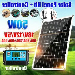 50w watt 12v 18v solar panel battery