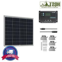 HQST 50W Watt 12V Poly Solar Panel Kit With Renogy 10A PWM C