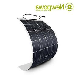 NewPowa 50W Watt 12V Semi-Flex Solar Panel High efficiency M