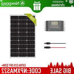 Newpowa 75W Watt 12V Solar Panel +PWM 10A Charge Controller+