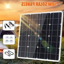 50W Watt Solar Panel Set 12V Off Grid Battery Charge For Car