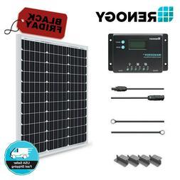 Renogy 50W Watt Solar Panel Starter Kit 12V Battery Charger