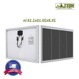 HQST 50W Watts 12V Mono Solar Panel 50 Watts Power RV Car Bo