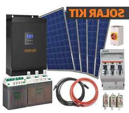 5kW Solar Off Grid System. AGM batteries, 48V inverter, 3kW