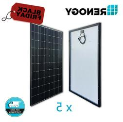 5pcs Renogy 300W Mono Solar Panel 1500W Watt 24V 48V Off Gri