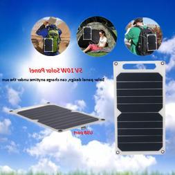 5V 10W Solar Panel USB Port Ultra Thin Portable Solar Charge