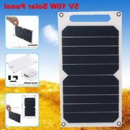5V 10W Ultra Mini Solar Panel USB Port IP65 Waterproof Phone