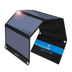 BigBlue 5V 28W Foldable Outdoor Solar Powered Charger With S