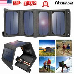5V 7W Foldable USB Solar Panel Portable Battery Charger f. P