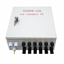 ECO-WORTHY 6 String PV Combiner Joint Box & 10A Circuit Brea