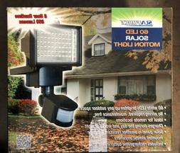 60 led solar powered motion activated flood
