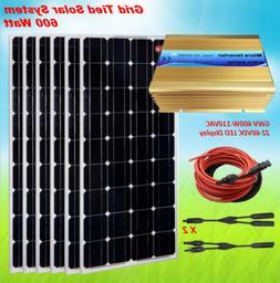 600 Watt Grid Tied Solar System with 600 Watt 22-60VDC Inver