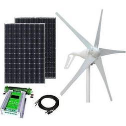 600W 24V 50A Wind-Solar Power Hybrid Kit - 400W Turbine + 20