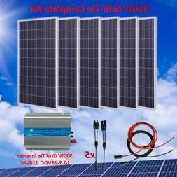 600W 6x 100 Watt Solar Panel Kit System with 500W Grid Tie I
