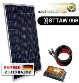 600W Watt System for off-grid battery charging 12-v volt