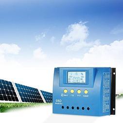Kinbelle 60A 12V/24V PWM LCD Auto Solar Panel Controller Bat
