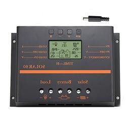 Y-SOLAR 80A Solar Charge Controller, 12V/24V 960W/1920W Batt