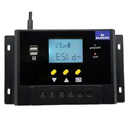60A Solar Charge Controller 12V 24V Autoswitch 5V Dual USB O