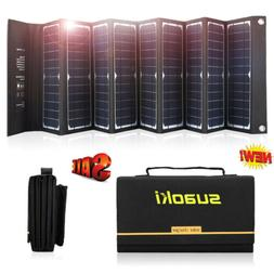 Suaoki 60W 18V/ 5V Foldable Solar Panel System Battery Charg