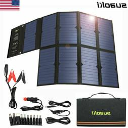 Suaoki 60W Portable Foldable Dual-Port USB DC Solar Power Ba