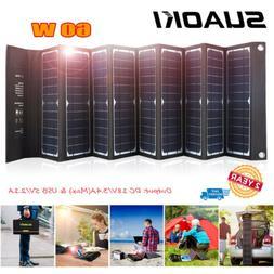 Suaoki 60W Solar Panel Foldble 18V DC & USB Folding Charger
