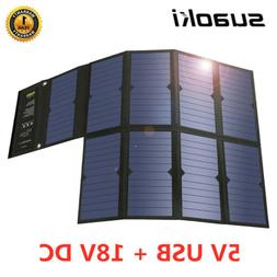 Suaoki 60W Solar Powered Panel Charger 5V/18V Foldable Solar