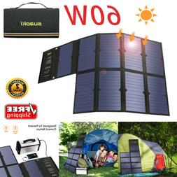 Suaoki 60W Sunpower Solar Panel Solar Battery Charger Foldab