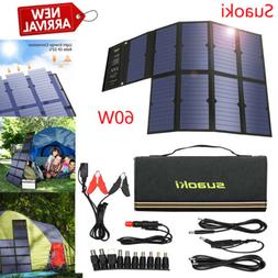Suaoki 60W Sunpower Solar Panel Solar Battery Charger Foldab