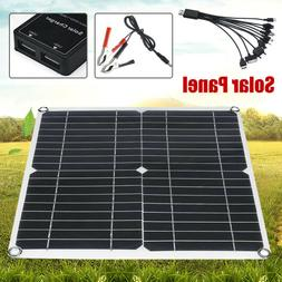 60W Watt 18V Solar Panel + PWM Solar Charge Controller Batte