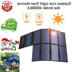 Suaoki 60W Watts 18V Monocrystalline Foldable Solar Panel Cl