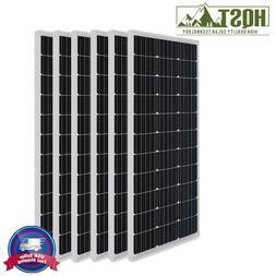 6pcs HQST 100W 12V Mono Solar Panel-Compact Deisgn 600W Off