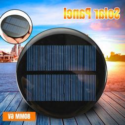 6V 2W 0.35A 80MM Mini Solar Panel Module Round Poly DIY Epox