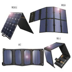 7/14/60/100W Solar Charger 5V 18V Portable SunPower Solar Pa