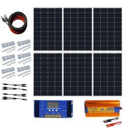ECO 120W 240W 360W 480W 720W Off Grid Solar Panel Kit RV Tra
