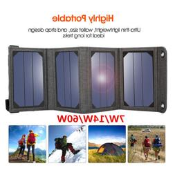 Suaoki 7W/14W/60W Solar Panel Charger Portable for Smartphon