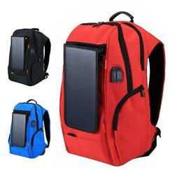 7W Solar Panel Powered Backpack Outdoor Travel Camera Laptop