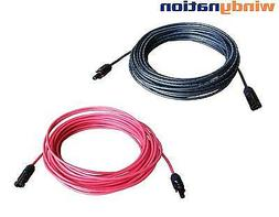 8 AWG 8 Gauge Pair Black + Red Solar Panel Cable Wire with S