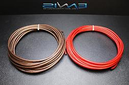 8 GAUGE WIRE 25 FT TOTAL 12.5FT BLACK 12.5FT RED AWG CABLE B