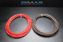 8 GAUGE WIRE 100 FT TOTAL 50 FT BLACK 50 FT RED SUPER FLEX A