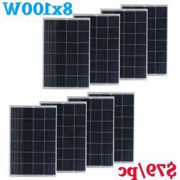 8 x 100W Monc 800 Watt 12V Solar Panel Mono Module RV Marine