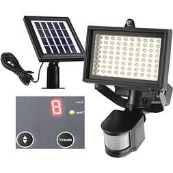80 LED Outdoor Solar Motion Light, Digitally Adjustable Time