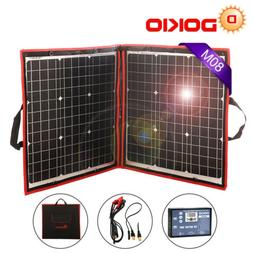 80 W12 V Monocrystalline Foldable Solar Panel with Inverter