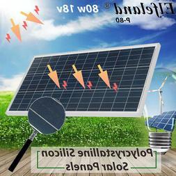 80 Watt 80W Solar Panel 18V Volt Poly Off Grid Battery Charg