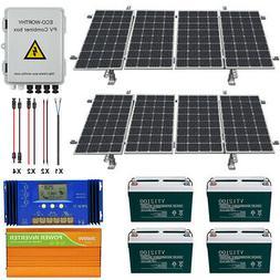 800W 1600W Watt 24 Volt Complete Solar Panel Kit For Home Ga