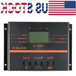80A Solar Charge Controller Battery Solar Panel Regulator LC