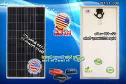 80w 120w 160w MONO watt Solar Panel 12V Poly Off Grid Batter