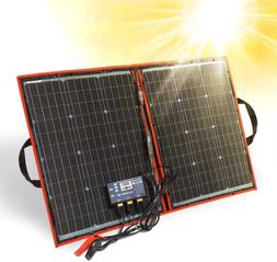80w 12v Folding Solar Panel Kit Lightweight 4lb Solar Charge