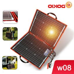 80W Solar Panel 12V/18V Flexible Foldble Solar Panel usb Por