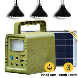 84 W·h Solar Panel Power Generator Kit, Portable Power Stat