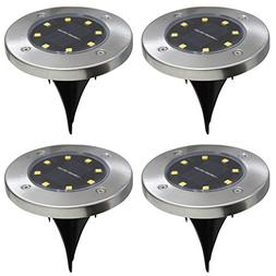 4Pcs 8LED Solar Powered Ground Lights Outdoor lamp Waterproo